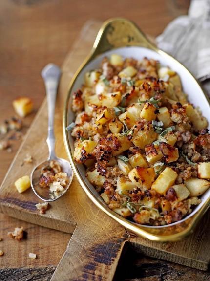 Gluten-free parsnip, pork & apple stuffing