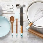 accessories for cooking and baking in the kitchen flat lay