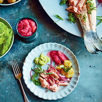 This whole poached salmon is a total showstopper