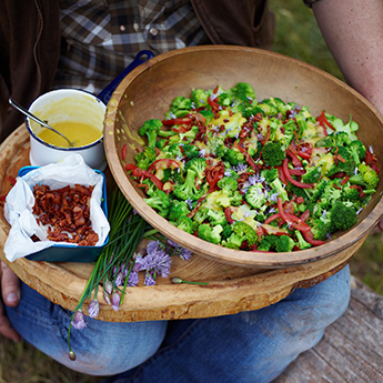Brilliant broccoli takes centre stage in this bacon-y salad