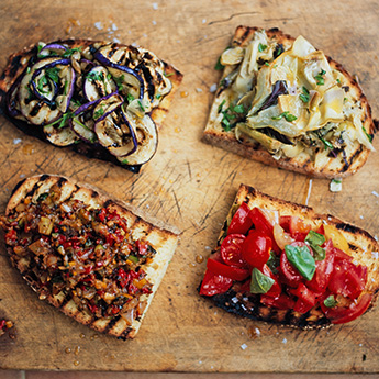 This super-easy bruschetta is perfect for warm evenings or quick lunches
