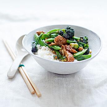 Pork & black bean stir-fry: a lighter spin on the old favourite