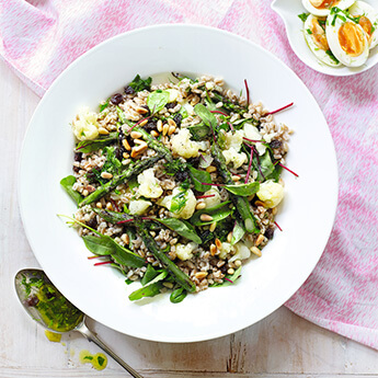 Grains make a great base for a hearty summer salad
