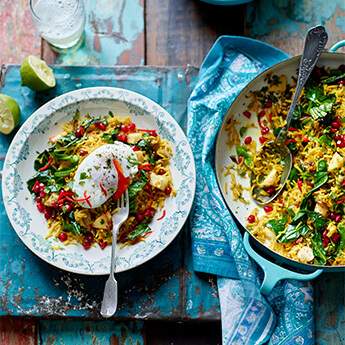 This spiced veggie rice with poached eggs makes a cracking brunch!