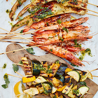 Surf & turf skewers – a Friday night favourite
