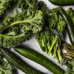 courgette seasonal vegetable - scatter of green vegtables