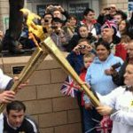 Olympic torches being passed on