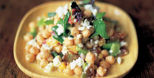 veggie recipe - chickpea and feta salad