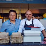 jamie oliver next to a chef in America