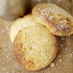 lemon butter biscuits with icing sugar scattered on top