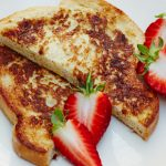 eggy bread french toast with strawberries