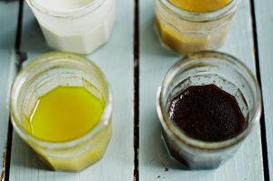 Jam jar dressings with kids
