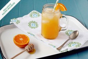 Homemade soda: honey clementine fizz