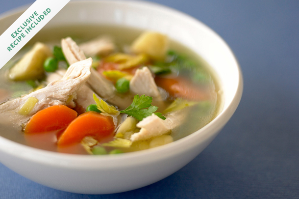 How to make chicken soup with leftover bones