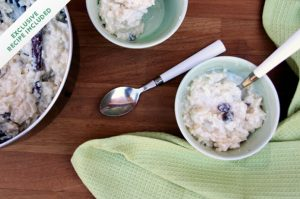 Childhood memories: vanilla rice pudding