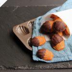 madeleines half dipped in dark chocolate
