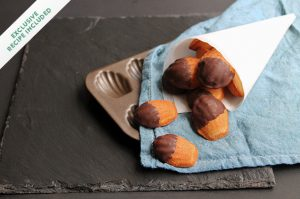 France: Madeleines with honey, lavender & dark chocolate