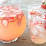 strawberry infused ice drinks