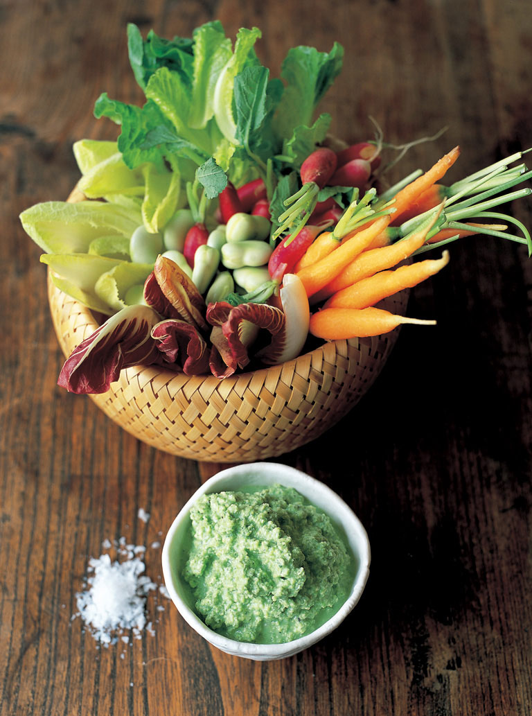 crudites and yoghurt dip