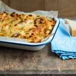 courgette lasagne with parmesan and on the side and cheese melted on top
