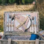 picnic set in a picnic basket