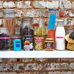 organising your cupboard - labelled jars and food