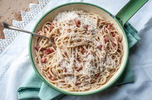 Gluten-free pasta carbonara