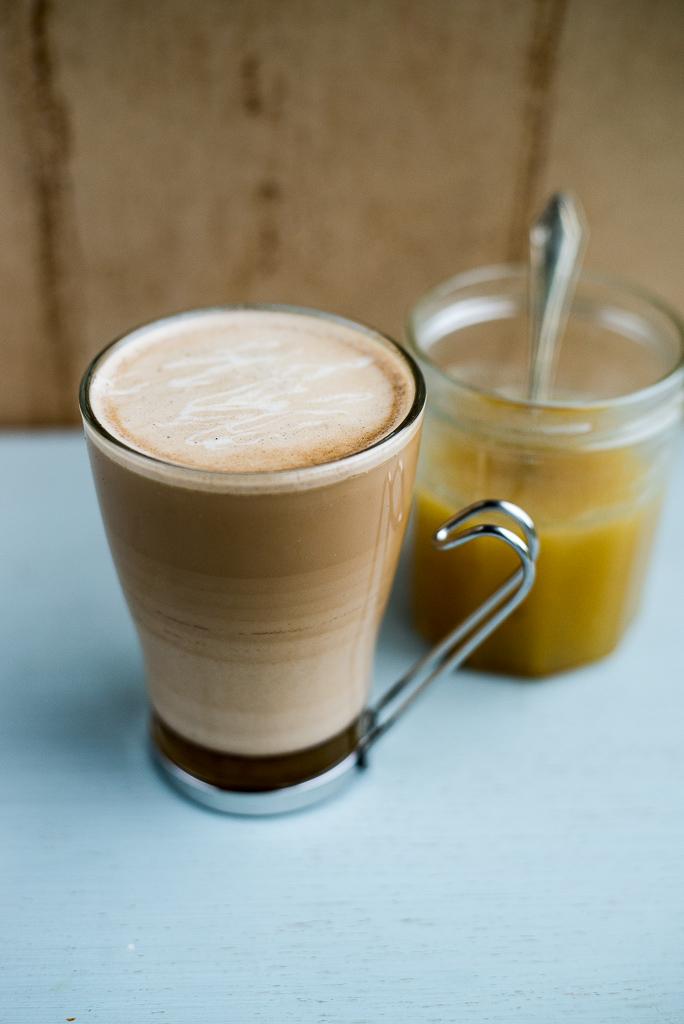 salted caramel milkshake , blend two tablespoons of salted caramel ...