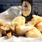 deep fried salt cod and artichokes