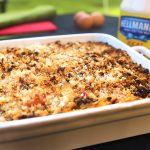 hellmanns mayonnaise shepherds pie with bread and cheese crumble