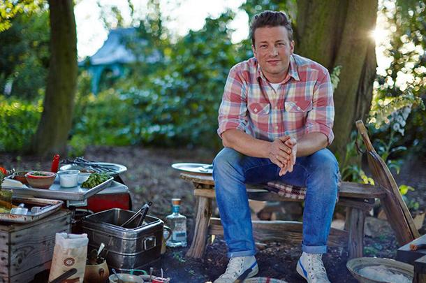 jamie oliver doing outdoor cooking