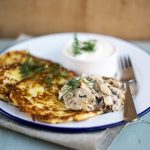 polish potato pancakes with herbs on top