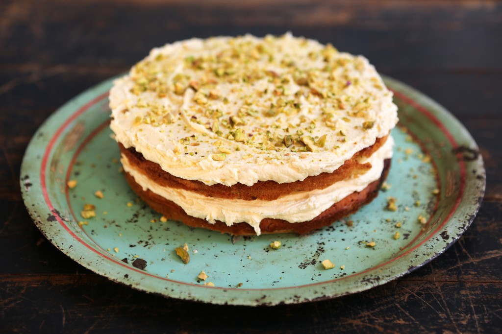 Chetna's Pistachio & white chocolate cake - Jamie Oliver | Features