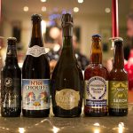 christmas beers lined up in a row