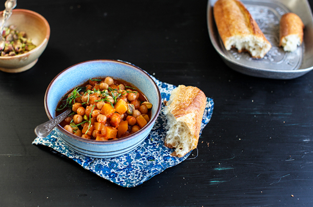 A heavenly vegan chickpea & cider stew