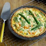 savoury baking - asparagus quiche pie