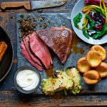roast beef recipe with vegetables and yorkshire pudding