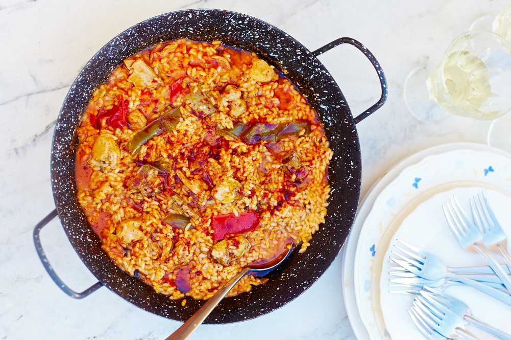 smoked paprika rice dish with vegetables