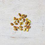 pistachio nuts flatlay
