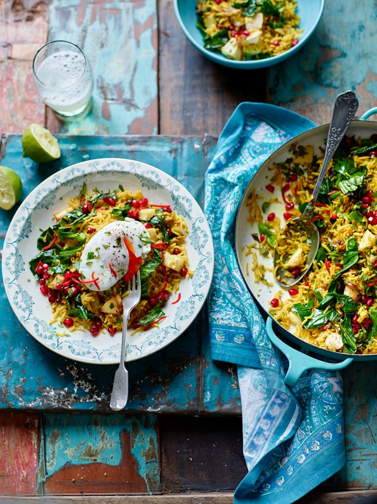 Spiced veggie rice with poached eggs eggs recipes jamie magazine ccuart Choice Image