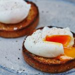 healthy food poached eggs on toast