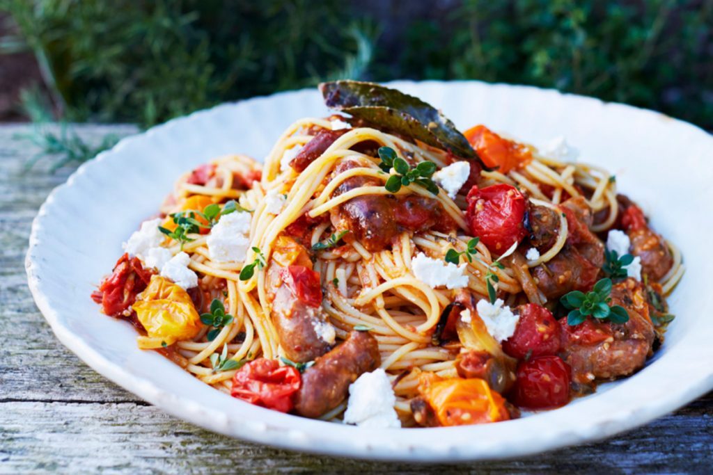 pasta recipes with tomatoes and sausage