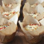 healthy savoury muffins with seeds and chilli in
