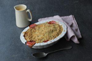A classic rhubarb crumble
