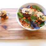 fruit and veg recipes for children. a fun kid salad of vegetable owls