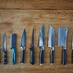 knife guide - different knives lined up