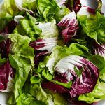 green salad recipe with colourful lettuce leaves
