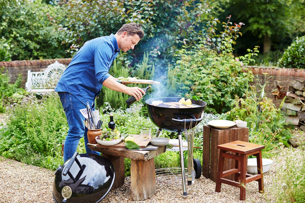 how to cook fish on the bbq jamie oliver features. Black Bedroom Furniture Sets. Home Design Ideas