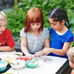kids eating healthy snacks