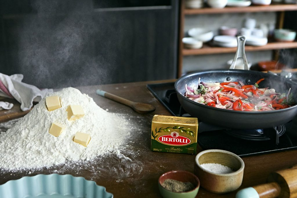 butter from bertolli and flour